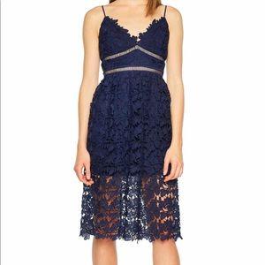 Bardot Floral lace mini dress